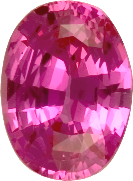 Super Fine AGTA Certified Unheated Pink Sapphire Oval Gemstone in Intense Pink Color in 10.3 x 7.7 mm, 3.32 carats