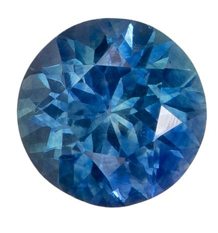 Super Fine Gem 0.95 carats Sapphire Loose Gemstone in Round Cut, Teal Blue Green, 5.6 mm