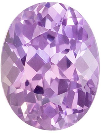 Super Fine Gem 6.3 x 5 mm Sapphire Genuine Gemstone in Oval Cut, Lavender Purple, 0.95 carats