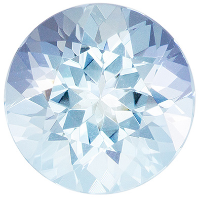 Super Fine Gem 8.5 mm Aquamarine Loose Gemstone in Round Cut, Sky Blue, 1.98 carats