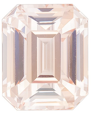 Super Fine Gem, Great Deal Octagon  Cut Faceted Peach Sapphire Loose Gemstone, 3.22 carats, 8.64 x 6.95 x 5.23 mm with GIA Certificate, A Great Deal