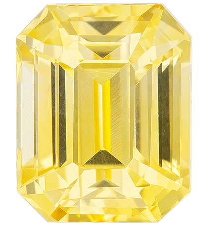 Super Fine Gem, Great Deal Octagon  Cut Faceted Yellow Sapphire Loose Gemstone, 2.05 carats, 7.3 x 5.8 mm , Fantastic Cutting