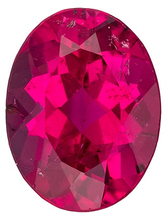 Super Great Buy Red Tourmaline Genuine Gemstone, 1.28 carats, Oval Shape, 8.2 x 6.2 mm