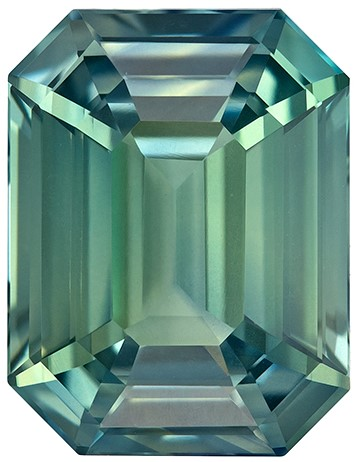 Super Fine Gem!  Octagon Cut Loose Blue Green Sapphire Gemstone, 3.54 carats, 9.5 x 7.3 mm , A Great Deal