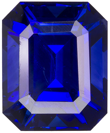 Super Fine GIA Certified Blue Sapphire Gemstone in Emerald Cut, Intense Rich Blue, 9.5 x 7.8 mm, 4.25 carats