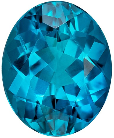 Strong Color in Small Size  Blue Tourmaline Genuine Gemstone, 4.5 carats, Oval Shape, 11.7 x 9.6 mm