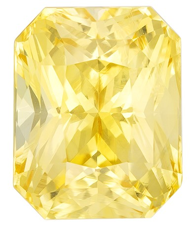 Super Gem - Extraordinary Fine  Radiant Cut Faceted Yellow Sapphire Loose Gemstone, 3.14 carats, 8.6 x 6.8 mm , A Must Have Gem