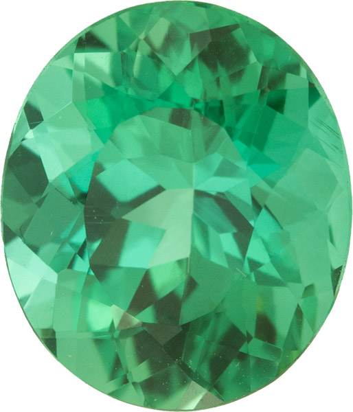 Super Gem in Blue Green Tourmaline Killer Rich Blue Green COlor, 11.3 x 9.5 mm, 4.45 carats