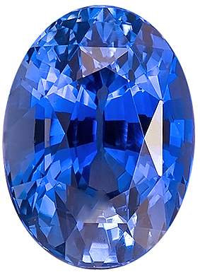 Super GEM Material, AGTA Cert. Blue Sapphire Unheated Genuine Gemstone for SALE, Oval Cut, 3.07 carats