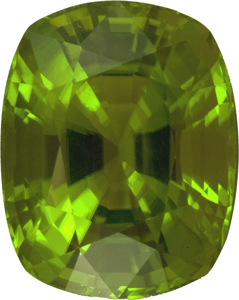 Super Gem Peridot in Cushion German Cut, Incredible Rich Green Color, 18.6 x 15.3 mm, 23.95 carats