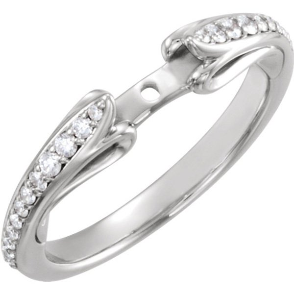 Super Gorgeous Scuplted 14kt Gold Peg Ring Base With 1/5ctw Diamond Accents for SALE