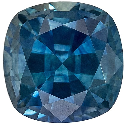 Super Great Buy  Blue Green Sapphire Genuine Gemstone, 1.09 carats, Cushion Shape, 5.5 mm