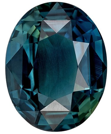Super Great Buy  Blue Green Sapphire Genuine Gemstone, 3.08 carats, Oval Shape, 9.6 x 7.5 mm