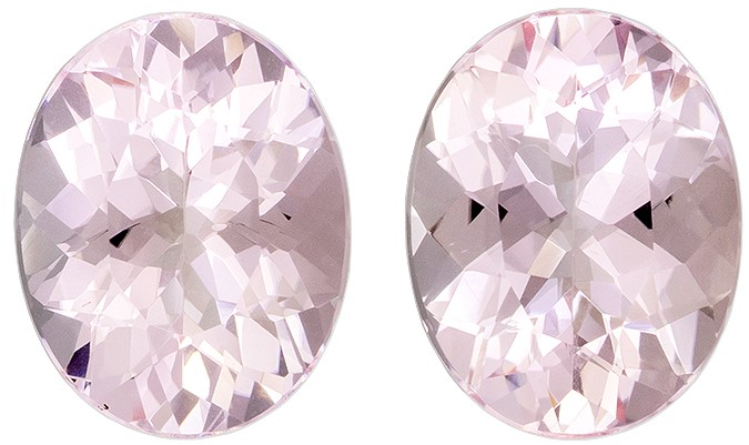 Super Great Buy  Pink Morganite Genuine Gemstone, 3.35 carats, Oval Shape, 9 x 7 mm Matching Pair