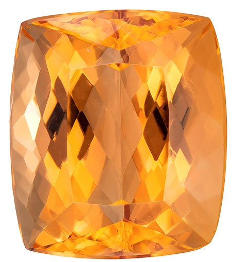 Super Great Buy on  Cushion Cut Faceted Imperial Topaz Loose Gemstone, 17.11 carats, 15.4 x 13.4 mm , Great Ring Gemstone