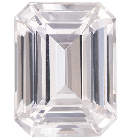 Super Great Buy on  Octagon Cut Loose White Sapphire Gemstone, 2.11 carats, 8.1 x 6.1 mm , Great Ring Gemstone
