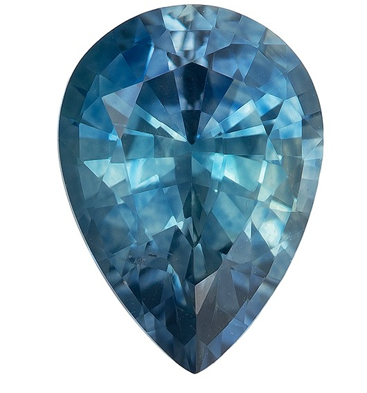 Super Great Buy on  Pear Cut Beautiful Blue Green Sapphire Gemstone, 1.07 carats, 7.4 x 5.3 mm , Fine Material