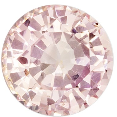 Super Fine Gem!  Peach Sapphire Genuine Gemstone, 1.44 carats, Round Shape, 6.53 x 6.45 x 4.21 mm  with GIA Certificate