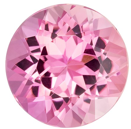 Super Great Buy  Pink Tourmaline Genuine Gemstone, 3.54 carats, Round Shape, 9.9 mm