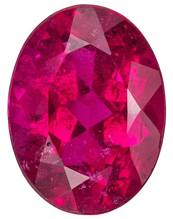 Faceted Red Tourmaline Gemstone, Oval Cut, 1.28 carats, 8.2 x 6.1 mm , AfricaGems Certified - A Deal