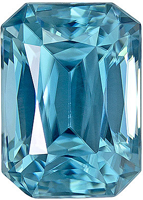 Super Lively Zircon Loose Gemstone in Fiery Radiant Cut, Rich Blue Color in 8.1 x 5.8 mm, 2.77 carats