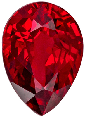 Super Nice  GIA Certified  Unheated Ruby Genuine Gem, Medium Red, Pear Cut, 7.04 x 5.03 x 3.64 mm, 1.04 carats