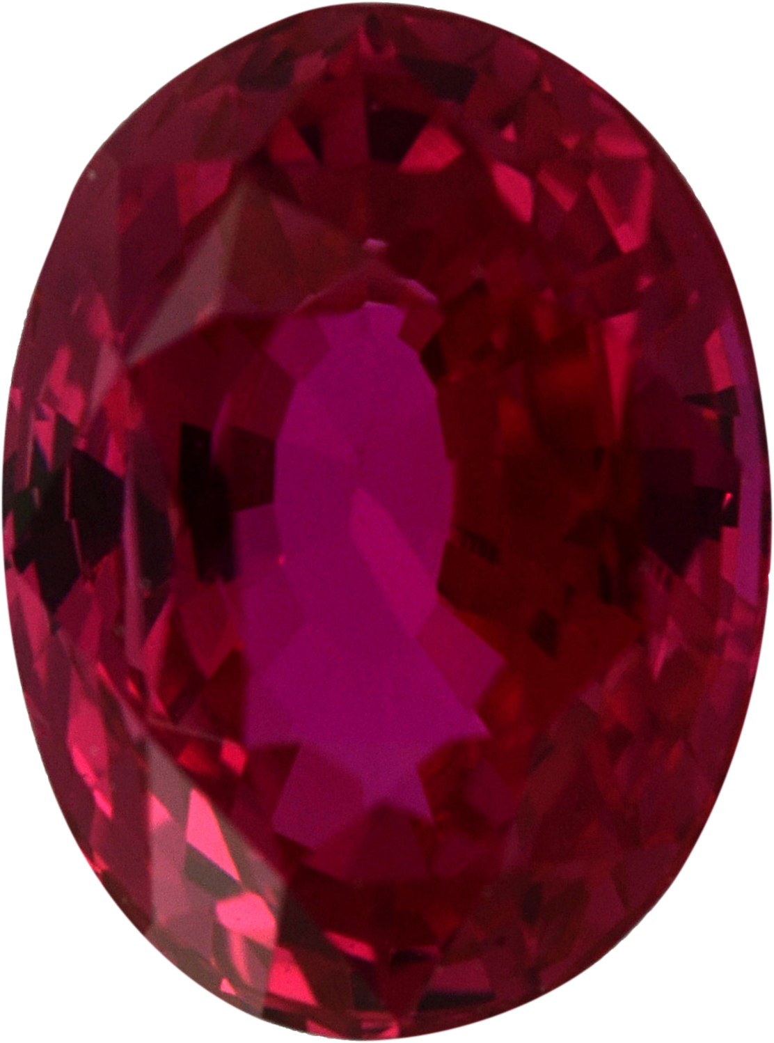 Super Nice Loose Ruby Gem in Oval Cut, Red Color, 7.33 x 5.50 mm, 1.49 carats