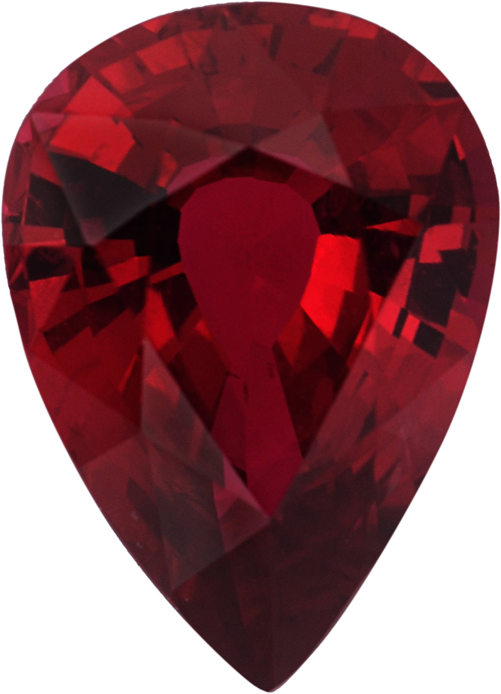 Super Pretty Loose Ruby Gem in Pear Shape, Red Color, 6.98 x 5.07 mm, 0.78 carats