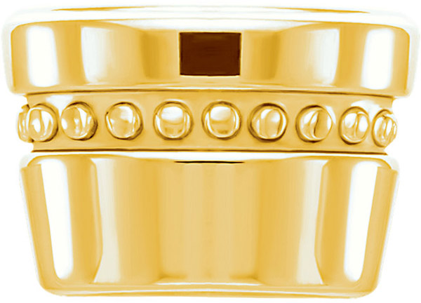 Super Stunning 14kt Gold Decorative Bezel Setting for Oval Gemstone Sized 6.00 x 4.00 mm to 12.00 x 10.00 mm