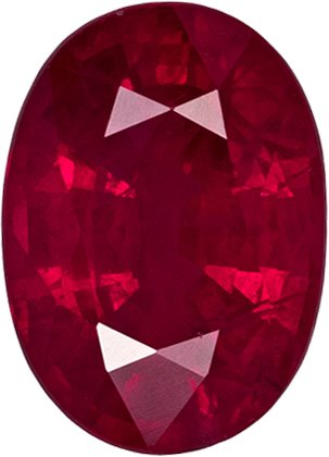 Super Value Ruby Loose Gem in Oval Cut in Rich Pure Red Color, 7 x 5 mm, 1.13 carats