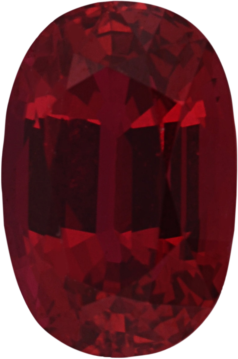Super Value Ruby Loose Gem in Oval Cut, Vibrant Purple Red, 7.83 x 5.28  mm, 1.49 Carats