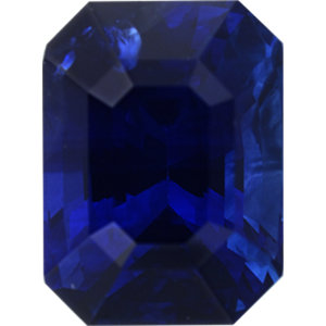 Super Value Sapphire Loose Gem in Emerald Cut,  Violet Blue, 7.79 x 5.85  mm, 2.21 Carats