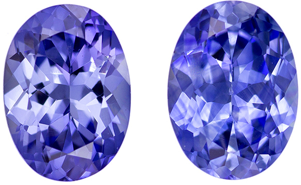 Superb Brilliance in Blue Sapphire Matched Pair Oval Cut, Medium Cornflower Blue Color, 7 x 5 mm, 1.86 carats