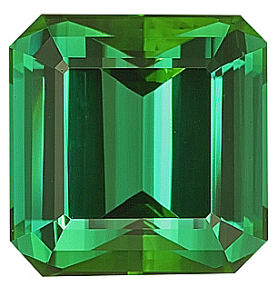 Superb GEM Blue/Green Genuine Tourmaline Gem Stone, Octagon Cut, 15 x 14.9 mm, 17.53 carats