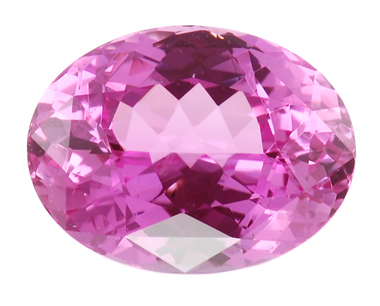 Superb GEM Large Clean Oval Cut Pink Sapphire Gemstone 5.06 carats - USA Cutting