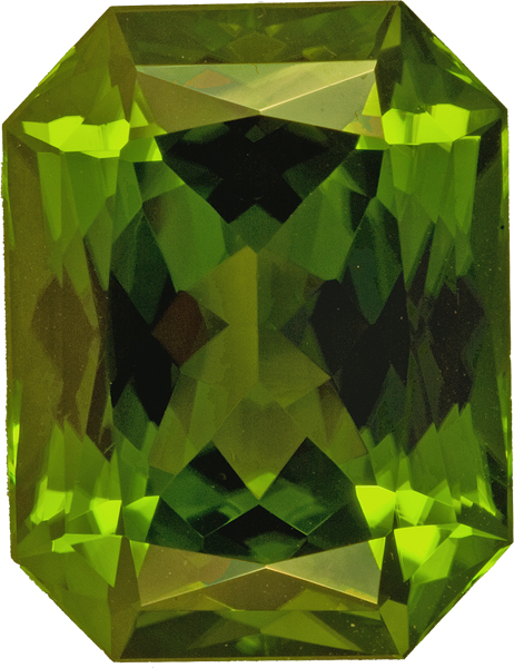 Superb Gem Peridot in Vivd Green, Pakistan Origin in Rare Radiant Cut, 20.7 x 16.7 mm, 32.64 carats