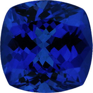 Superb Tanzanite Loose Gem in Antique Square Cut, Medium Blue Violet, 8.92 x 8.90  mm, 3.08 Carats