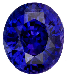 Superb Vivid Rich Blue Sapphire - Evenly Colored - Well Cut - Good Looking Stone, Oval Cut, 2.23 carats