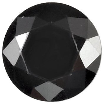 Loose Quality Faceted Black Cubic Zirconia Gem in Round Shape Sized 2.50 mm