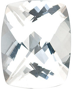 Swarovski Gems Checkerboard Antique Cushion Genuine White Topaz in Grade AAA