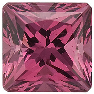 Swarovski Gems Pink Rose Princess Genuine Rhodolite Garnet  in Grade FINE