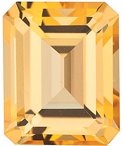 Swarovski  Honey Passion Topaz Emerald Cut in Grade AAA