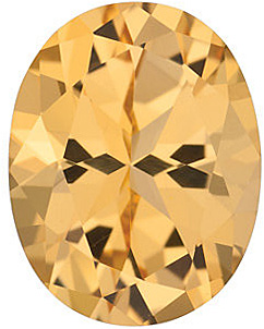 Swarovski Honey Passion Topaz Oval Cut in Grade AAA