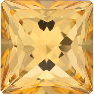 Swarovski  Honey Passion Topaz Princess Cut in Grade AAA