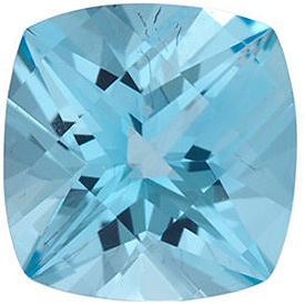 Swarovski  Ice Blue Passion Topaz Antique Square Cut in Grade AAA