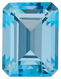 Swarovski  Ice Blue Passion Topaz Emerald Cut in Grade AAA
