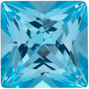 Swarovski  Ice Blue Passion Topaz Princess Cut in Grade AAA