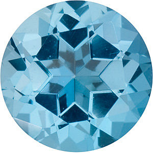 Swarovski  Ice Blue Passion Topaz Round Cut in Grade AAA