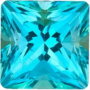 Swarovski  Paraiba Passion Topaz Princess Cut in Grade AAA