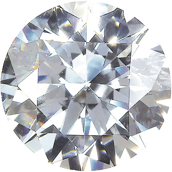 Round Shape Swarovski Gems Colorless Cubic Zirconia Gemstone Sized 0.80 mm